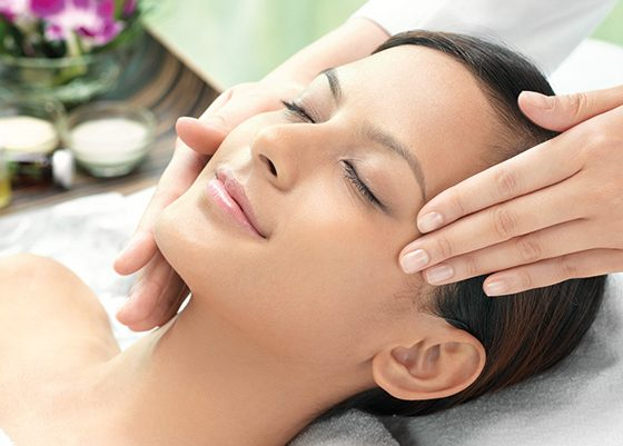 Facial treatment in salons